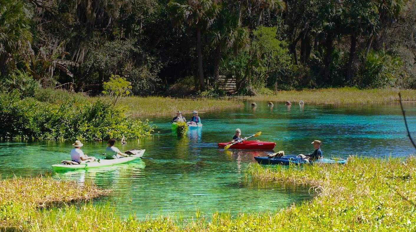 rainbow kayaking